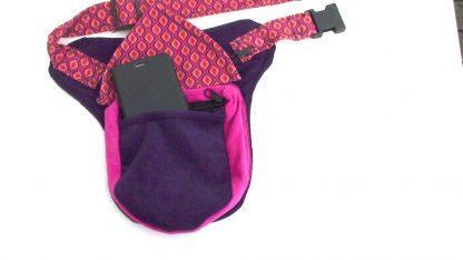 Roze met paarse kinderheuptassen