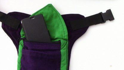 Kinderheuptas paars met groen
