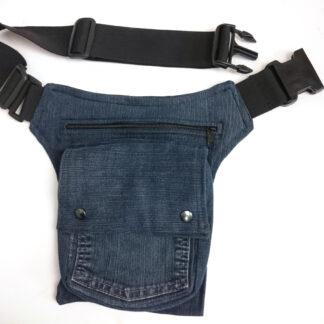 heuptas van gerecyclede spijkerbroek