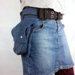 Heuptas, gemaakt van een oude blauwe spijkerbroek Image